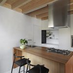 Interiors of the Kitchen with Island Kitchen